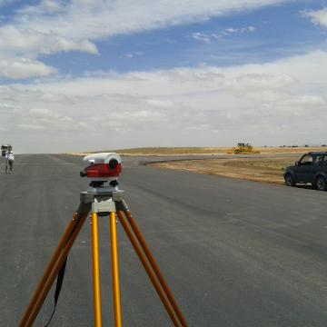 Prestations topographiques: renforcement de l'aérodrome Tiaret